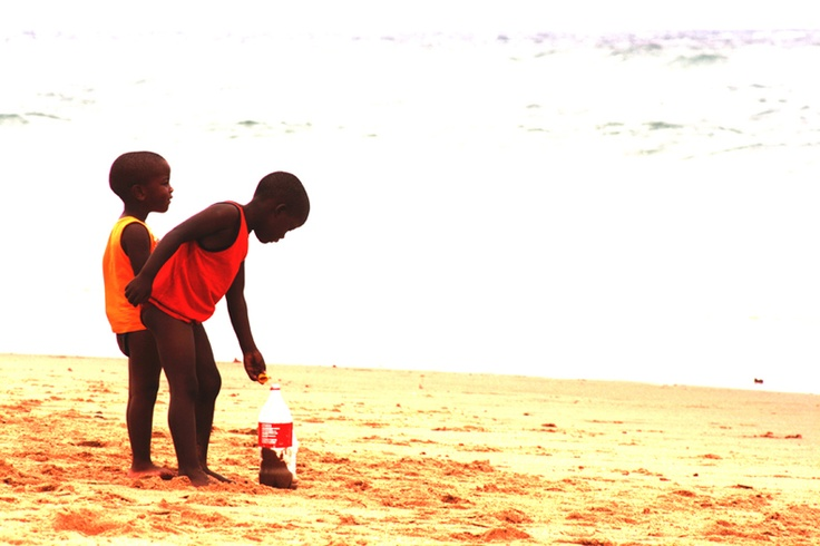 Boys playing on the beach in St Lucia KZN