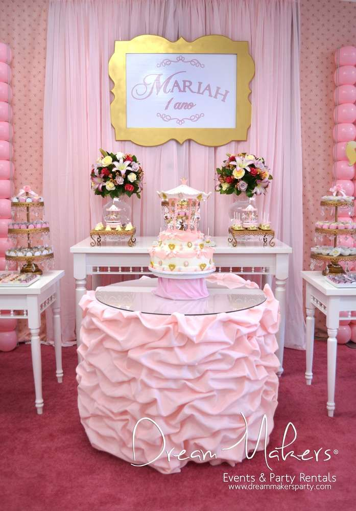 Carousel Birthday Party dessert table!  See more party planning ideas at CatchMyParty.com!