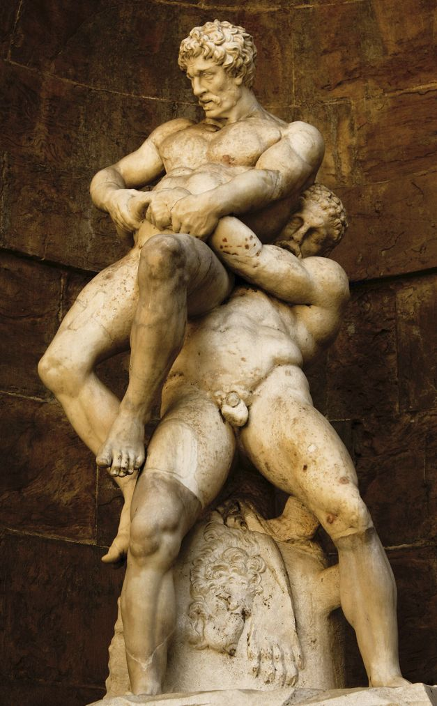 Hercules and Antaeus. Courtyard of the Palazzo Pitti, Florence