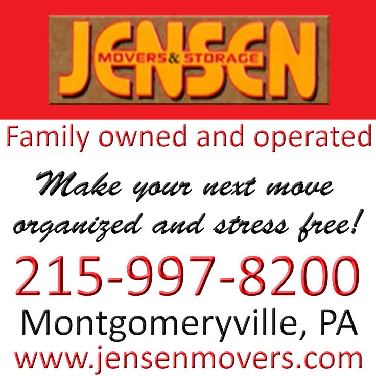 WOBC Member! Ana Maria Jones - President - Jensen Movers and Storage, Inc We provide residential and commercial moving, packing and storage services to clients in Montgomery County, Bucks County, Philadelphia County, Lehigh County, Chester County and the surrounding area. www.jensenmovers.com