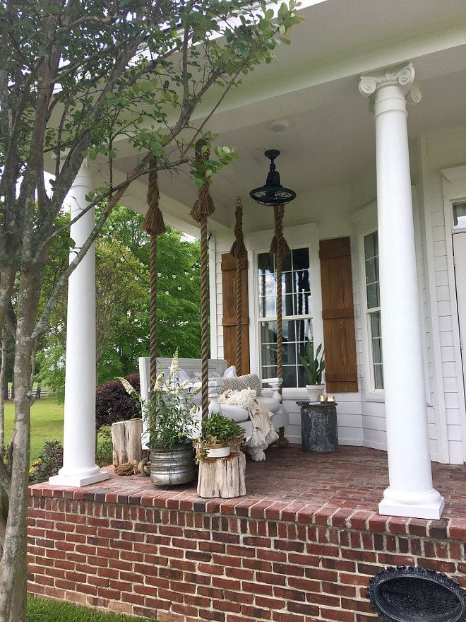502 best images about front porch on pinterest for Old porch swing