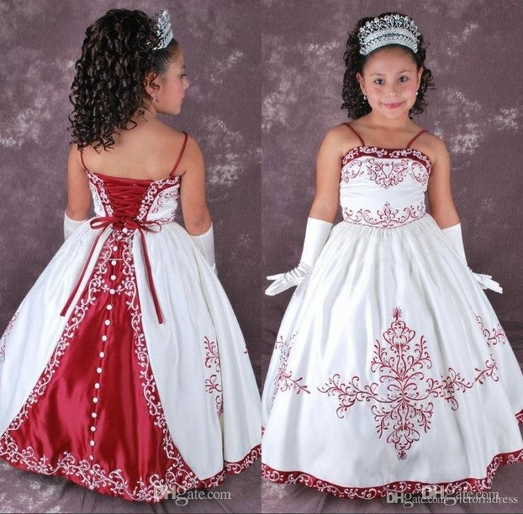 30 Beautiful Red And White Ball Gown Wedding Dress