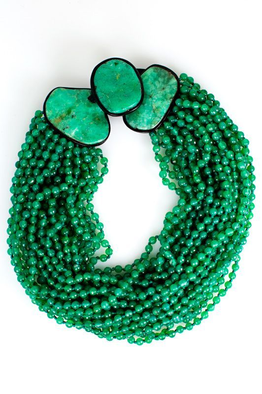 Monies Adventurine Multi Strand Necklace » Jewelry » Santa Fe Dry Goods | Clothing and accessories from designers including Issey Miyake, Rundholz, Yoshi Yoshi, Annette Görtz and Dries Van Noten