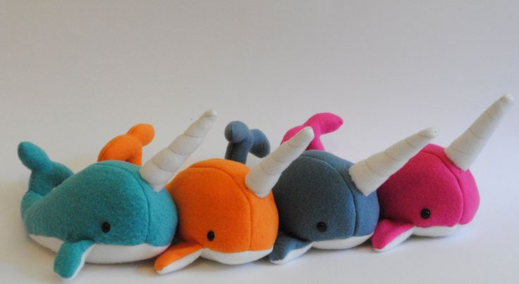 Narwhal Plush CHOOSE YOUR COLOR. $20.00, via Etsy.