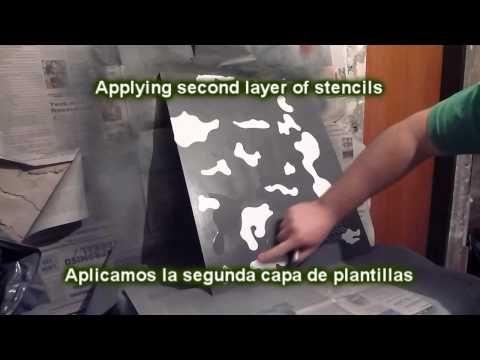 Como Pintar Sobre Foamy Para Hacer Uniforme Camuflado o Pixelado Para fofucho Policia Militar - YouTube