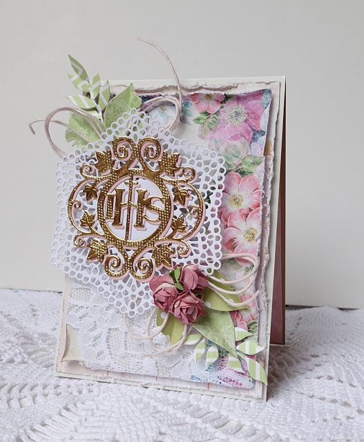Blog Craft Passion: Communion card/ Kartka komunijna