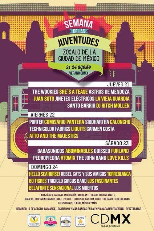 Del 21 al 24 de agosto en el Zócalo de la Ciudad de México
