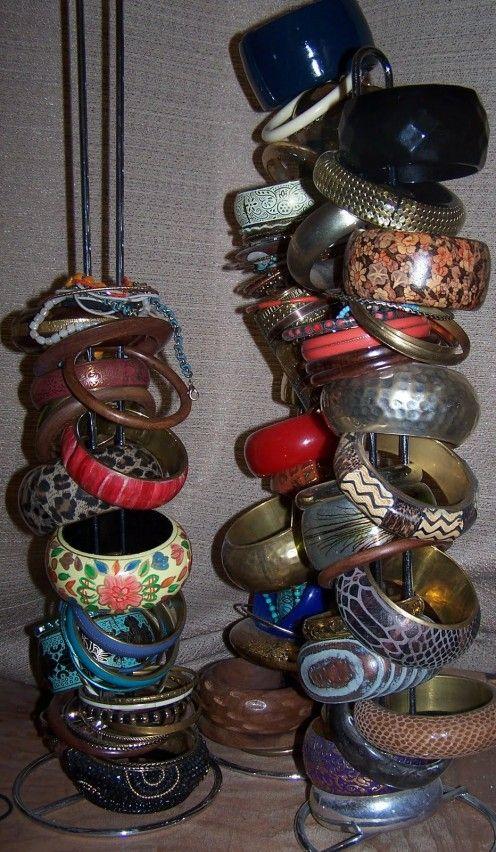 Best JewelryScarf Organization Images On Pinterest Cabinets - Bangle bracelet storage ideas