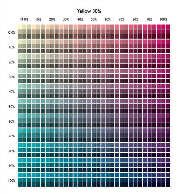 Cmyk Color Chart Pdf Free Download
