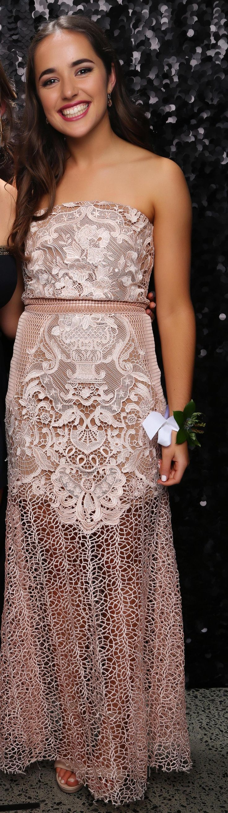 St Kent's School Ball 2017. Love the lace detail!