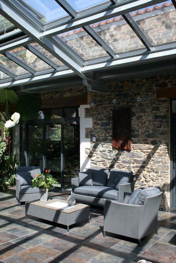 Salon bas de jardin Riade textilène gris - Leroy Merlin | Leroy ...