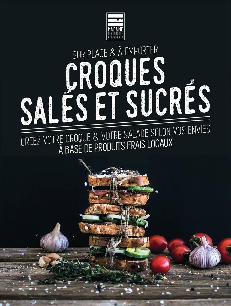 Flyers, croque monsieur, restauration rapide Création #Izipass