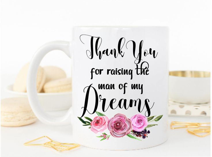 Mother In Law Gift, Thank You For Raising The Man of My Dreams Mug, Mother of the Groom, Wedding Gift, Mother in law mug, Wedding present by MysticCustomDesignCo on Etsy