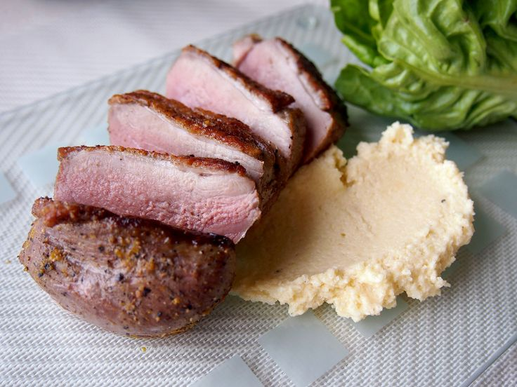"""Excellent duck breasts with crispy skin and tender meat from Thomas Kellers  """"Ad hoc at home"""""""