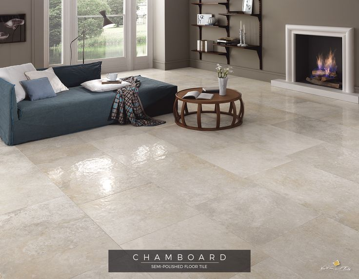captivating ceramic floor tile designs living room | Living room with fireplace and hammered effect, semi ...