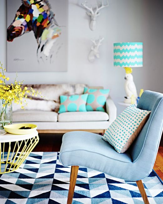 With fun, fresh colours, playful characters and contemporary hand-drawn geometrics, this space is exciting and invigorating. Bring on summer, we say! #SpringIndoors