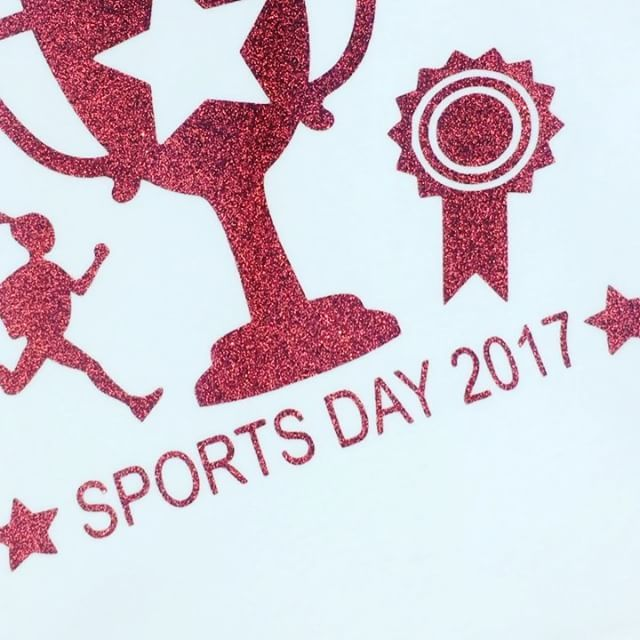 SPORTS DAY 🏆🏃🏽♀️❤️ Lots of Fab Tshirts leaving us today! CREATE YOUR OWN for that special day via our website >>> www.dollymixboutique.com