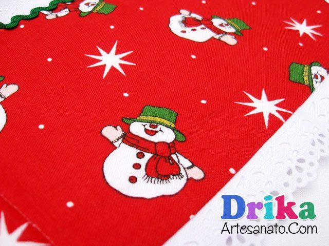 Incríveis Panos de Prato com patch aplique para o Natal