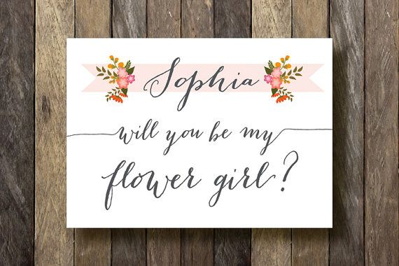 Printable Flower Girl Card  Will you be my by TheLionAndTheLark