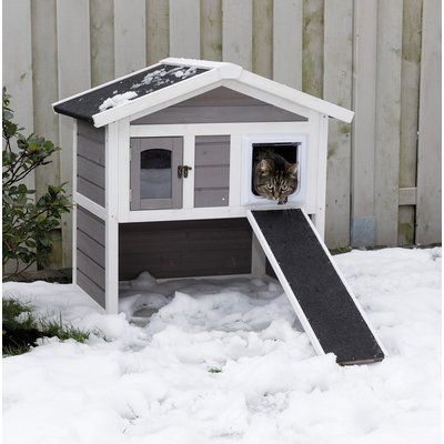 Archie Amp Oscar 30 Quot Hallett Insulated Cat Condo Wooden