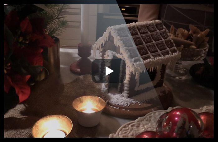 Så gör du ett underbart chokladhus till jul.