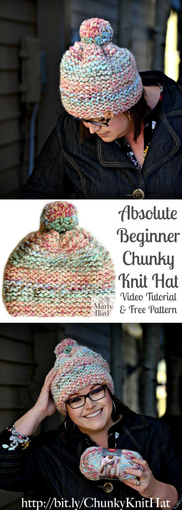 Absolute Beginner Chunky Knit Hat | { hand made } | Pinterest ...