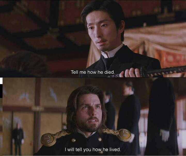 last samurai good conversation