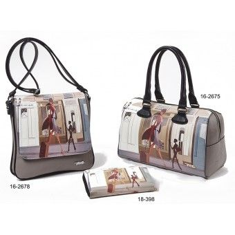Τσάντες και πορτοφόλι με στάμπα Verde S-4583
