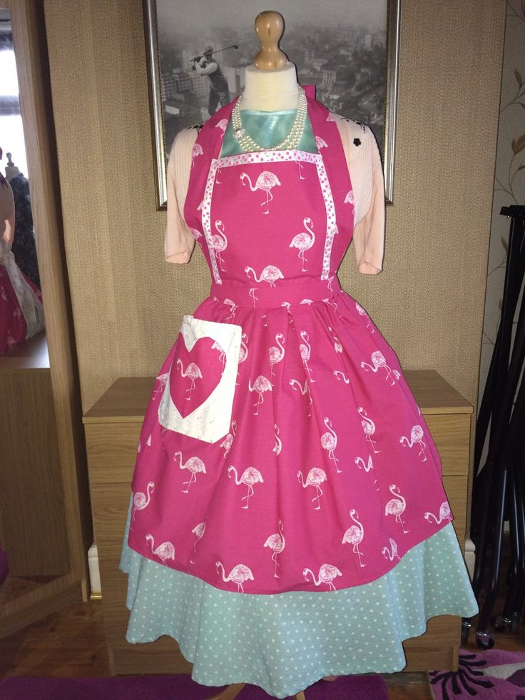 Pink Flamingos Full Apron for all Retro Vintage Rockabilly