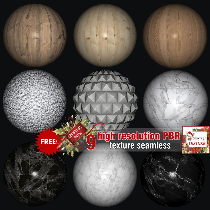 Free Christmas package PBR textures 3k