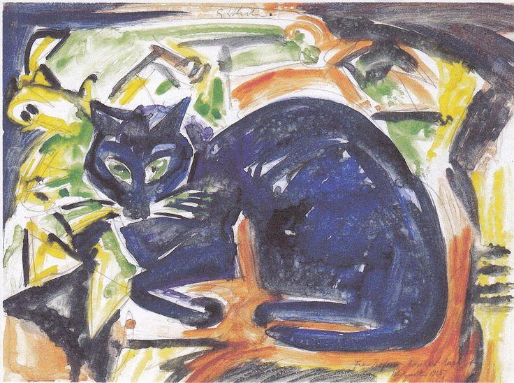 Ernst Ludwig Kirchner, cats in art, Kirchner's cat Bobby