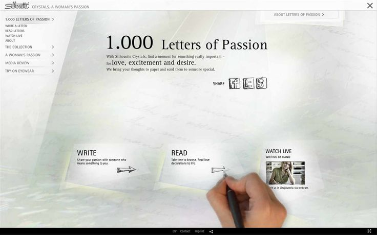 Silhouette International Eyewear: 1.000 Letters Of Passion