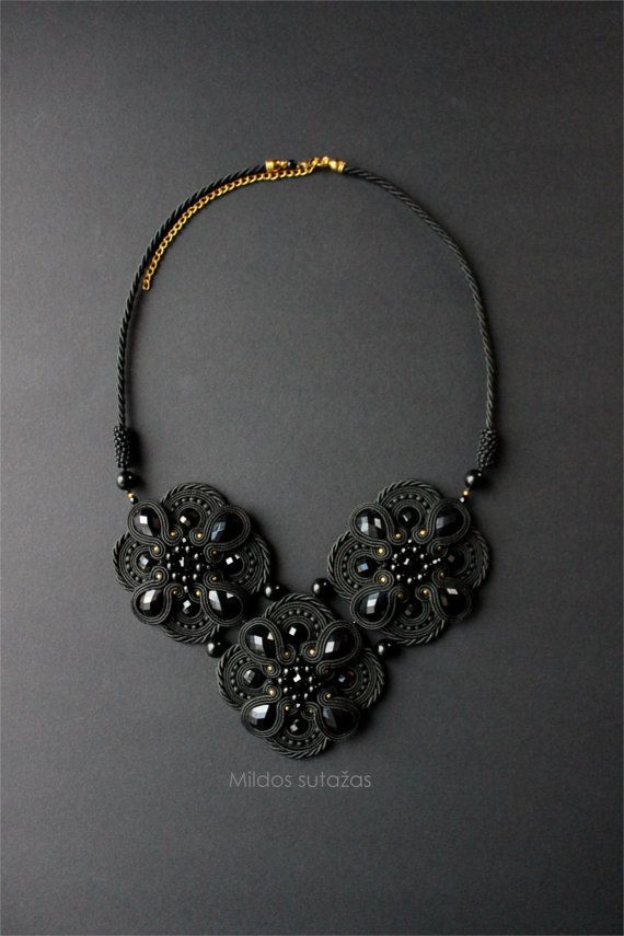 Handmade soutache necklace