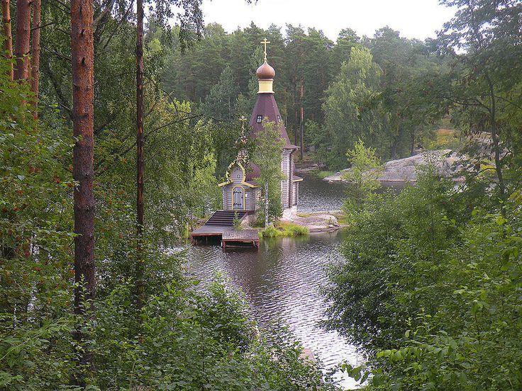 Church of Andrew the Apostle--  Priozerskiy Rayon, Russia  In the middle of Lake Vuoksa, about two hours north of St. Petersburg.