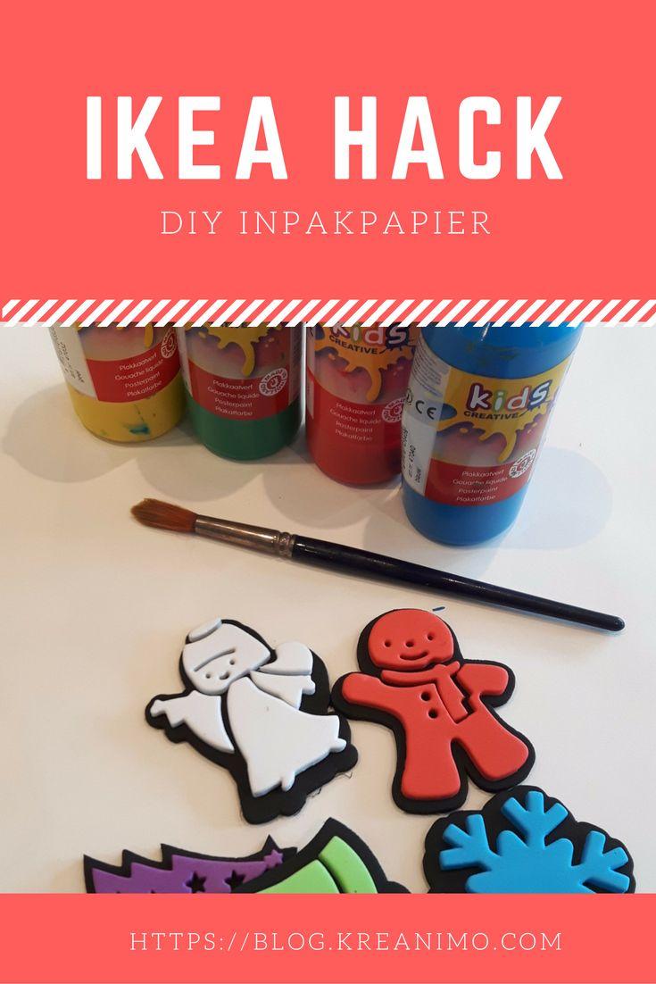 Ikea Hack DIY inpakpapier met Mala Tekenrol https://blog.kreanimo.com/ikea-hack-diy-inpakpapier/