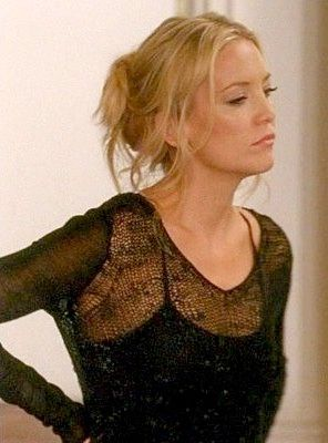 """Fashion of Glee: Kate Hudson brings """"If you can't do, teach,"""" to a new level on Glee wearing a sexy sheer black Helmut Lang Coated Lace Pullover on the Glee Britney 2.0 Episode"""