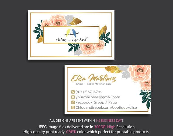 Chloe And Isabel Marketing Kit Custom Chloe And Isabel Cards Watercolor Business Cards Custom Business Cards Marketing Business Card