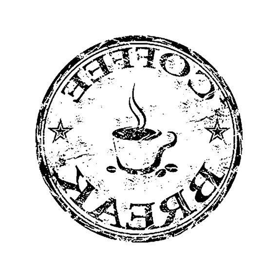 Coffee Break graphic in reverse