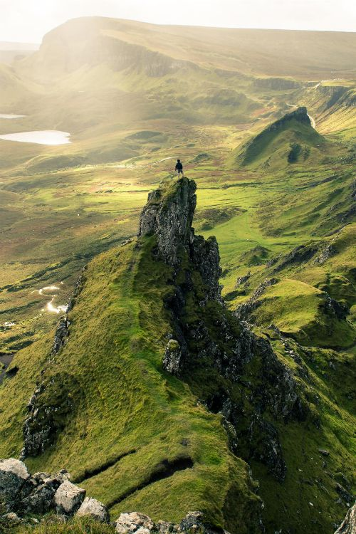 "cyclistonthestorm: "" expressions-of-nature: "" The Quiraing, Skye / Scotland by: Robert White "" What you can't see terribly well in this photo, is the bloody bog. Welcome to Skye, where everywhere you..."