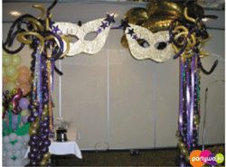 Party Entrance Ideas Masquerade Theme Entrance Balloons