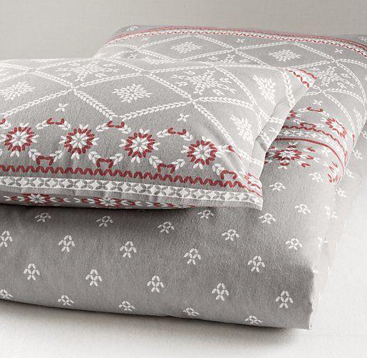 European fair isle flannel duvet cover duvet covers for Duvet covers restoration hardware