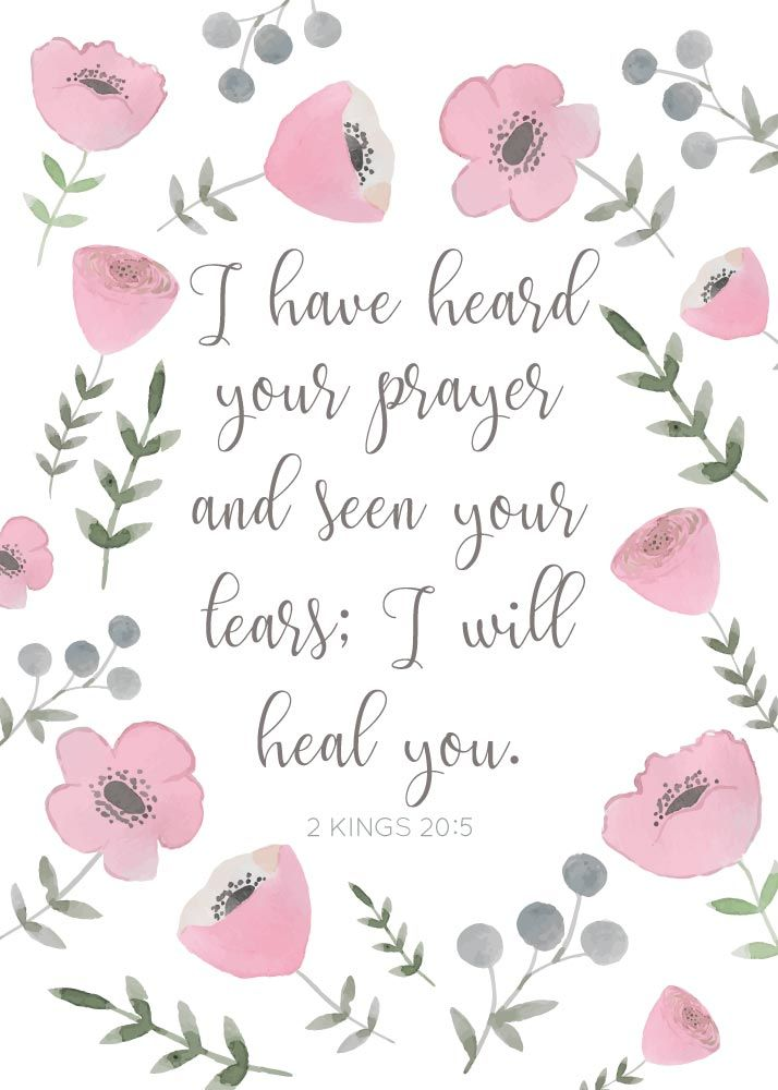 I have heard your prayer and seen your tears; I will heal you 2 Kings 20:5  Even though God knows what will ultimately happen, that doesn't mean He can't respond to our prayers, which is part of His plan that brings about what will ultimately happen. Let this print be your reminder that the Lord takes notice of every desire in your soul.