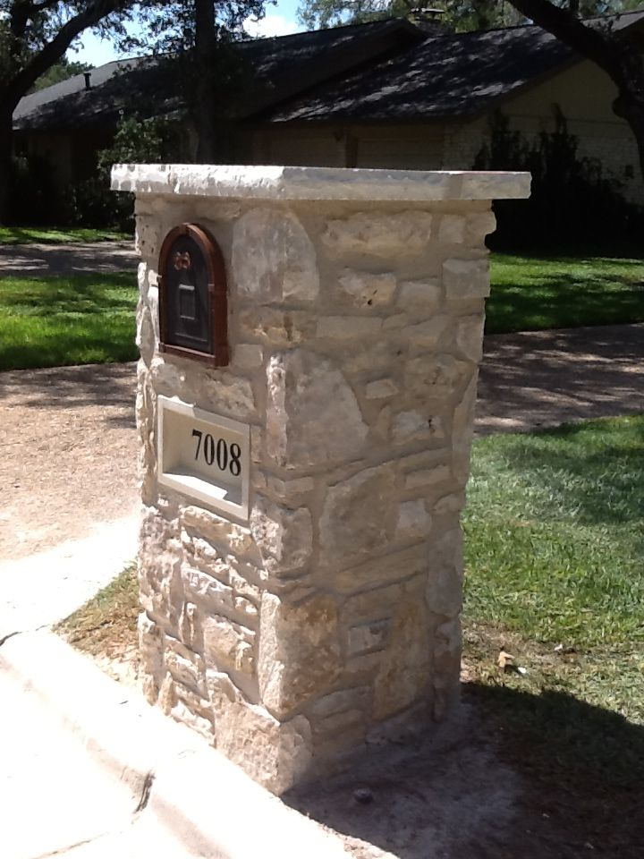 Stone mailbox designs images for Best mailbox design