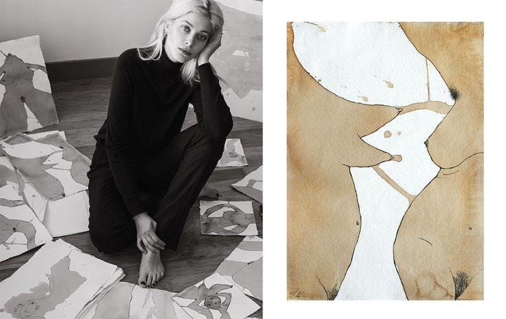 Larissa Hofmann ist Model, Fotografin, Stylistin, Kunststudentin und Künstlerin – das kreative Allround-Talent zeigt uns auf ihrem Instagramkanal vor allem schlichte Looks, die eine Kombination aus Vintage 40er Jahre Teilen, die an die Kleiderschränke von stilvoll-eleganten Großmüttern erinnern, und Berliner Szene Kleidung sind. Sie trägt vor allem Oversize: Karottenhose zum überdimensionalen Burberry-Trench zu Loafers.