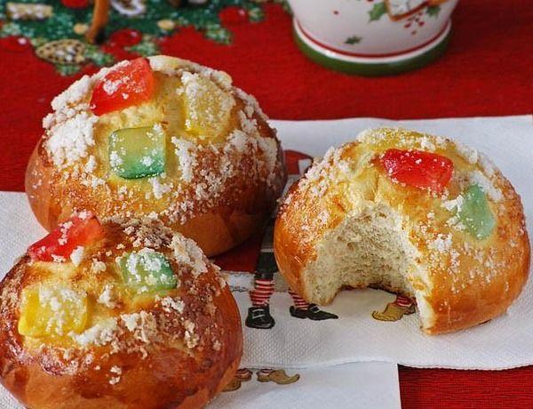 Receta => Bollos individuales de Roscón de Reyes