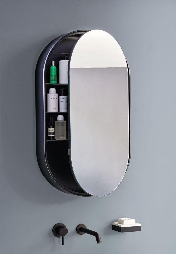 Cielo Oval Mirror With Or Without Box 90x50x4 12cm Storage Mirror Mirror Bathroom Renovation