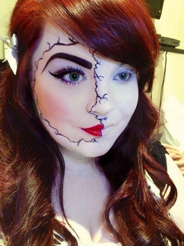 105 best Broken doll makeup images on Pinterest | Halloween ideas ...