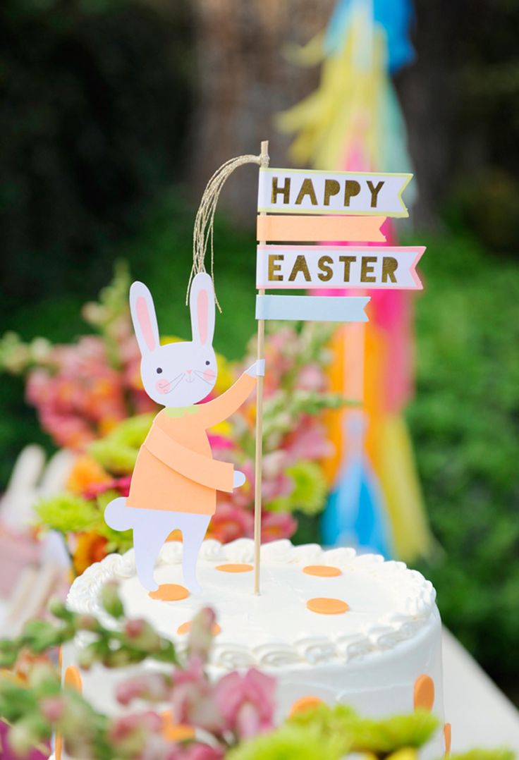 Project Nursery - Easter Bunny Cake Topper