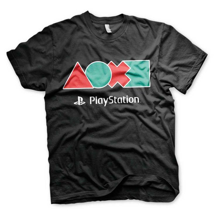 Hybris PlayStation - Button Icons unisex T-shirt zwart - Games merchan
