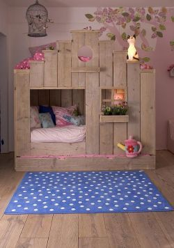 Kids bed lovely idea no instructions just for inspiration, beds are shown in different colour ways.
